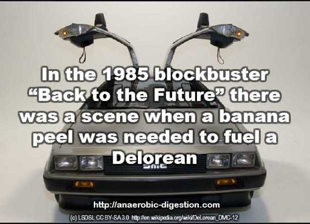 banana powered Delorean